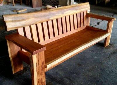 【原味手工家具】柚木沙發3人座-台南 原木 家具