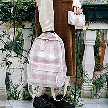 後背包書包女正韓原宿高中學生百搭簡約校園帆布森系雙肩背包【 全館免運】
