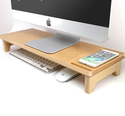 螢幕架 電腦顯示器屏幕增高架實木底座桌面鍵盤置物架收納支架架子加高 【全館免運】