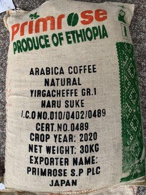 龐老爹咖啡 耶加雪夫 雪菲 Primrose Yirgachefee HARU SUKE G-1 日曬處理 生豆1公斤