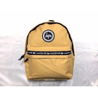 HYPE TAPE BACKPACK 卡其土黃色織帶後背包 英國品牌帶回 男生女生包包