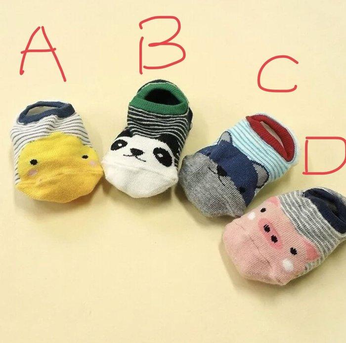 (2-4歲)動物款卡通寶寶可愛童襪 保暖帆船襪 短襪天氣款雨天閃電休閒童襪 繽紛馬卡龍顏色童襪襪套抹襪嬰兒襪帆布鞋可搭襪