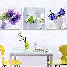 【厚2.5cm】經典清新花卉-客廳現代簡約裝飾畫無框畫【190114_488】【70*70cm】1套價