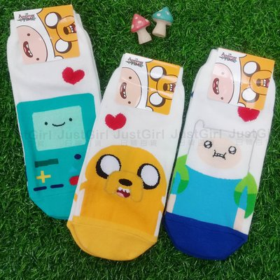 韓國襪 Adventure Time 探險活寶 卡通襪子 短襪 老皮 阿寶 嗶莫正版授權 Justgirl
