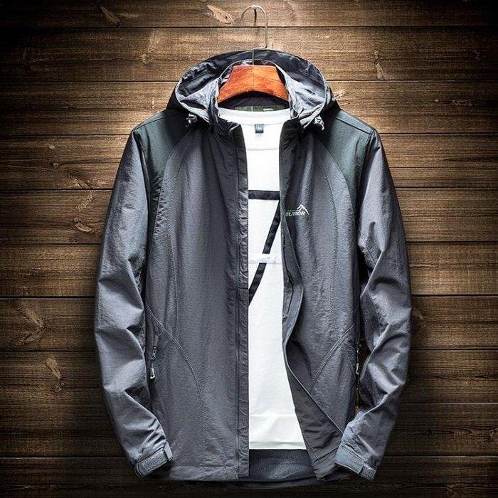 獵普衝鋒衣男士潮牌春秋薄款防水透氣戶外運動單層可拆卸防曬防雨