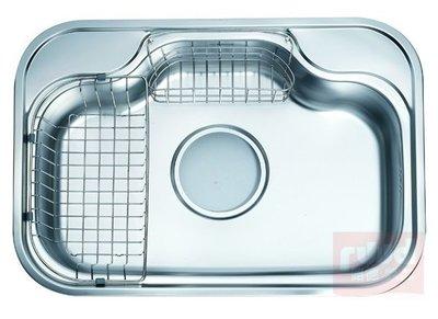 【路德廚衛】ENZIK sink韓國不鏽鋼水槽- EDS-740P1 不鏽鋼壓花防刮痕水槽74CM 歡迎來電詢問!!