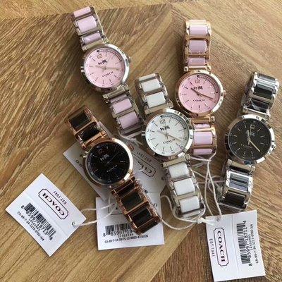 【Woodbury Outlet Coach 旗艦館】COACH 14502462 黑色 粉色 白色 陶瓷手錶 美國代購