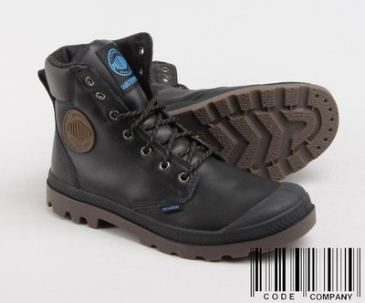 =CodE= PALLADIUM PAMPA SPORT CUFF WP 防水皮革軍靴(黑) 72991-057 女