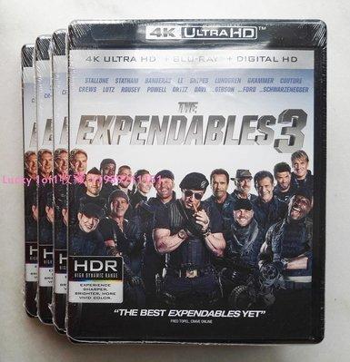 Lucky 1of1收藏正版藍光 The Expendables 3 敢死隊3 4K UlHD 碟 全景聲美us