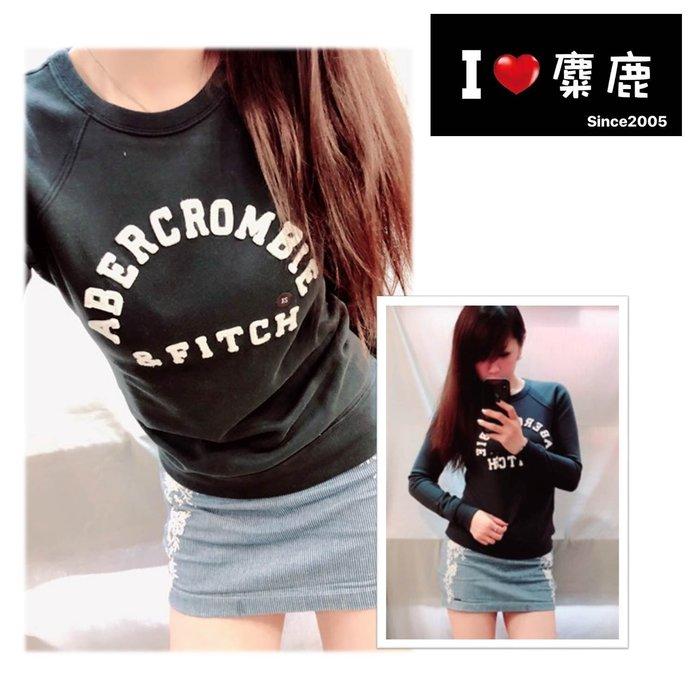 A&F 新款 標誌圓領套頭衫 Abercrombie & Fitch 我愛麋鹿 AF正品專賣店