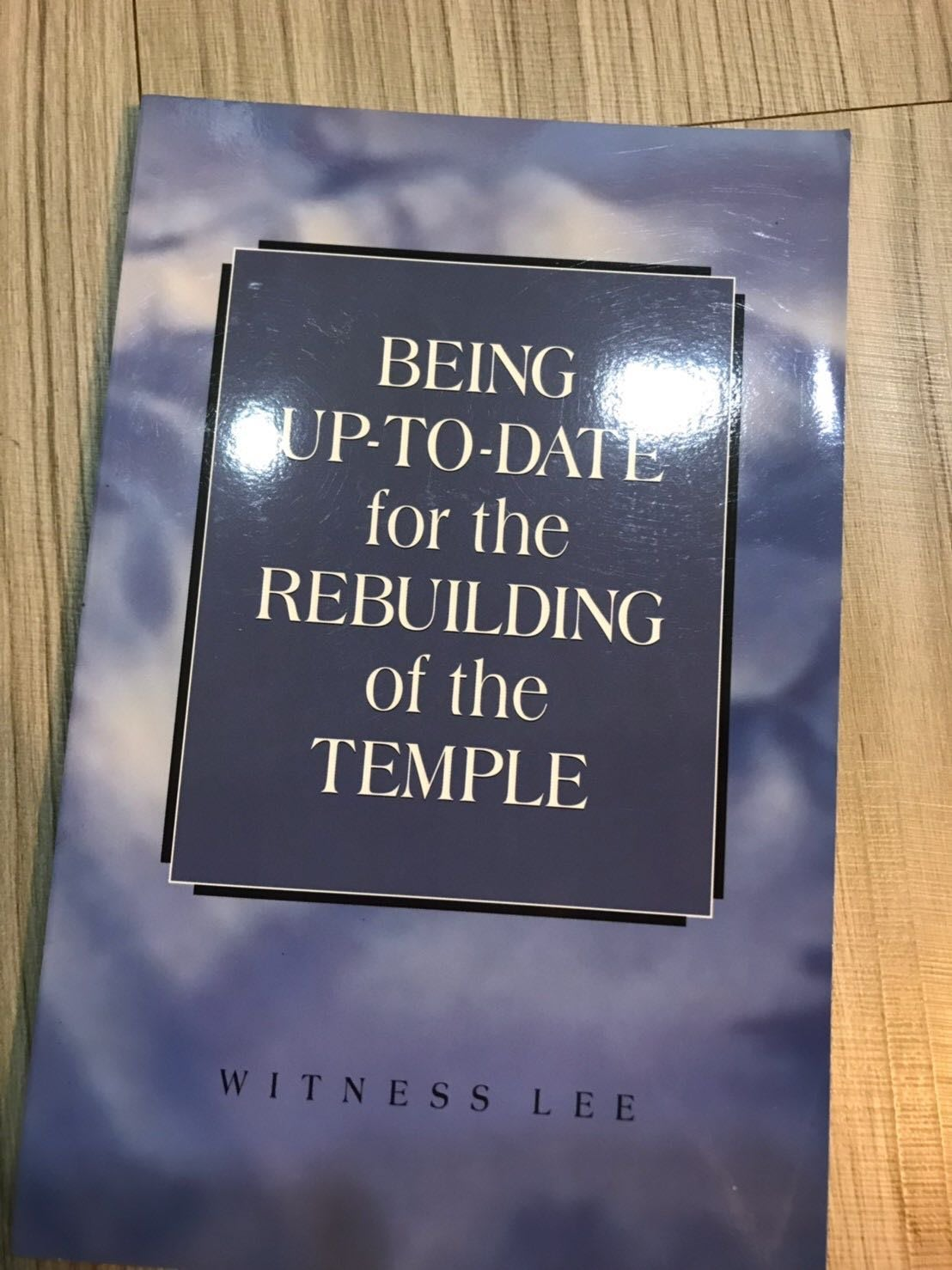 BEING UP TO DATE FOR THEREBUILDING OF THE TEMPLE 英文書