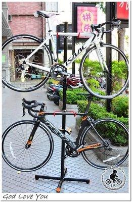 (高雄191) ICETOOLZ 自行車 落地式展示架 頂天立地架 (自行車立車架)