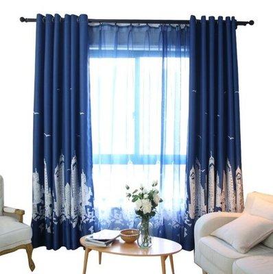 隔熱窗簾遮光成品簡約現代臥室客廳窗簾布陽臺落地窗遮陽布全遮光 YTL