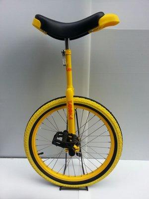 【追風一輪車】20吋獨輪車、一輪車(短座管)130-145公分學習使用!黃色/黑黃胎,最佳學習車款!