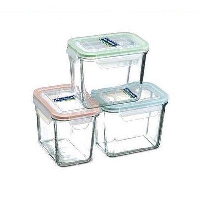 【網路e購】Glasslock 格拉氏洛克強化玻璃保鮮罐強化玻璃保鮮盒3入組 SP-1803單售130 歡迎來店自取省運費 台北市