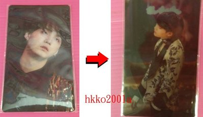 BTS [ 3D 立體動畫照片 ] (SUGA 閔玧其) 現貨在台 官方週邊 防彈少年團 WING 演唱會