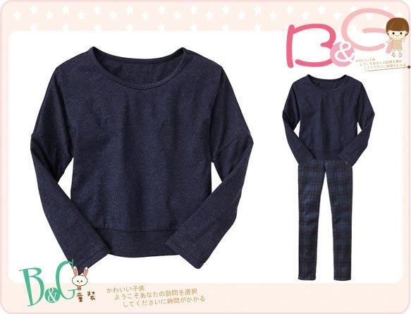 【B& G童裝】正品美國進口GAP Dolman tee深藍色長袖上衣M號8yrs
