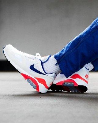"Nike Air Max 180 Ultramarine Og 復古 百搭 慢跑鞋""白藍粉""615287-100 男女鞋"