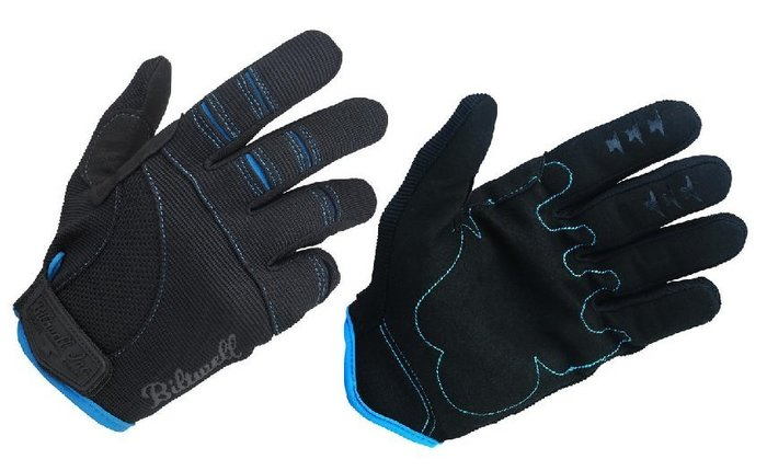 (I LOVE樂多)USA Biltwell MOTO GLOVES - BLACK/BLUE bmx 騎士手套 黑藍色