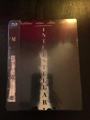 (全新未拆封)星際效應 Interstellar 藍光雙碟限量鐵盒版 藍光BD(得利公司貨)