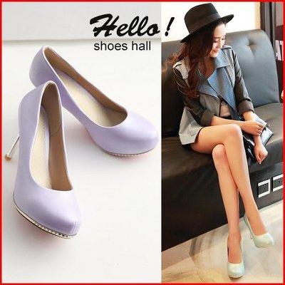 跟鞋*鞋館Shoes hall*【A11078】 魅力指標~質感漆皮尖頭高跟鞋~3色~