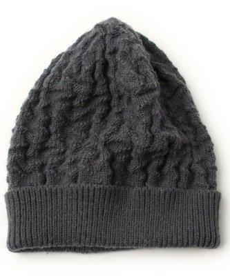 Ca4La日本製 *熱賣經典款 手工編織 抓皺皺寬版反折超質感輕量 小臉造型帽(NO.1031)