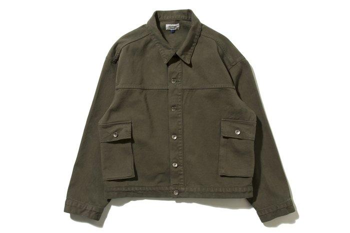 { POISON } DeMarcoLab 2SP OVERDYED JKT 仿舊後染加工 襯衫式工作外套