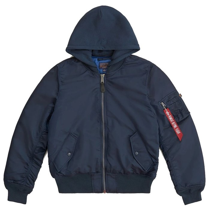 【A-KAY0】ALPHA INDUSTRIES 男女 MA-1 NATUS 連帽飛行外套【MJM47506C1NV】