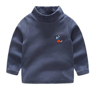 【Mr. Soar】 D128 冬季新款 歐美style童裝男童半高領長袖上衣 現貨