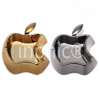 簡小姐專屬賣場  INPHIC-蘋果煙灰缸 創意 送禮 家居擺設 不銹鋼 煙缸 高檔 金色