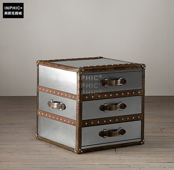 INPHIC-美式現代簡約鏡面小茶几 邊几 床頭櫃_Y328