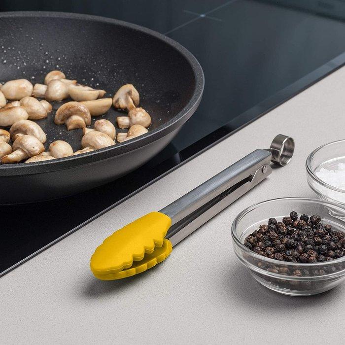 英國 Zeal 芥末黃 有掛勾 耐熱高達250度C 矽膠 鉗子 夾子 30cm 不沾鍋的好搭檔 J140M