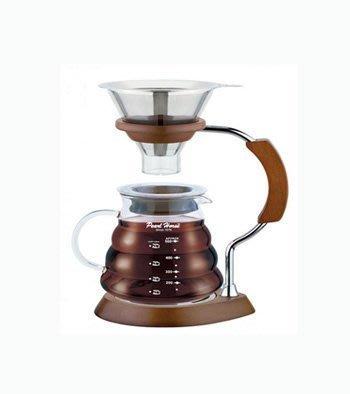 【圖騰咖啡】全新寶馬牌 樂浪滴漏式手沖壺 600ml 雲朵壺 金屬濾網 咖啡壺 TA-G-08-600