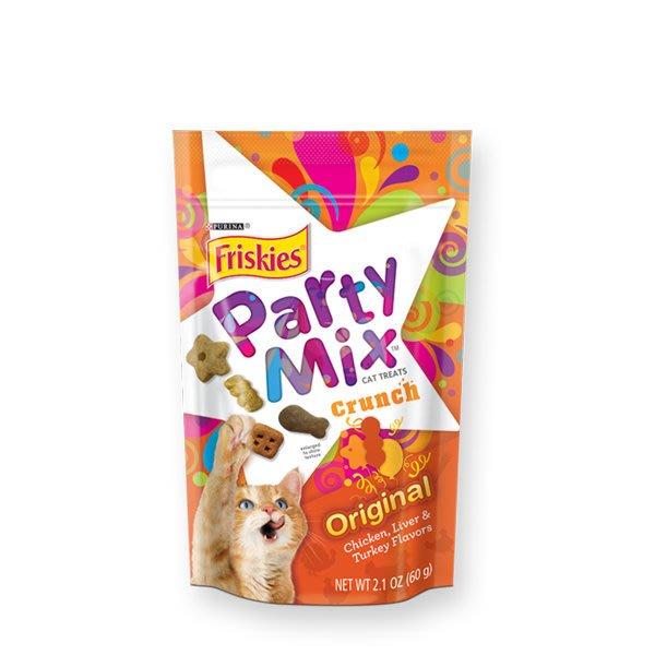 SNOW的家【訂購】Friskies 喜躍 Party Mix 貓咪香酥餅-經典原味60g (14060013