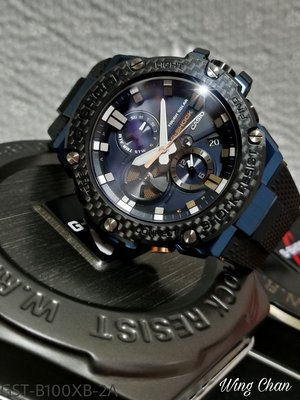 CASIO G-SHOCK WATCH BLUETOOTH 藍芽傳輸 GST-B100XB-2A