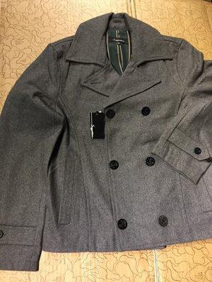 [變身館日本服飾]~Suggestion~西裝~排扣外套~毛料~海軍釦~外套~立領~日本購入~全新現品~M~灰