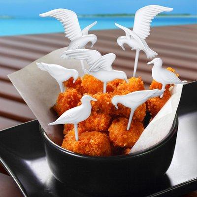 美國Fred & Friends海鷗造型派對點心叉(Seagull Party Picks)