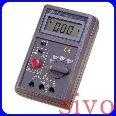 ☆SIVO電子商城☆泰仕 TES-1600(含稅價) 數位式絕緣測試器 高阻計2000mΩ 專業儀錶電錶