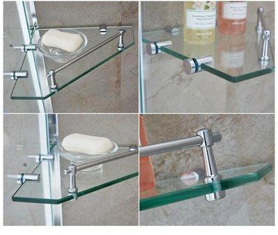 多莎淋浴房 鑚石形置物架 玻璃板 隔斷層架 儲物托架·享家生活館