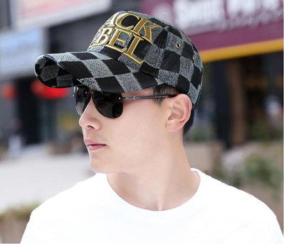 【BLACK REBEL 正品 R077-3 優質韓製 造型棒球帽】帽子專賣店