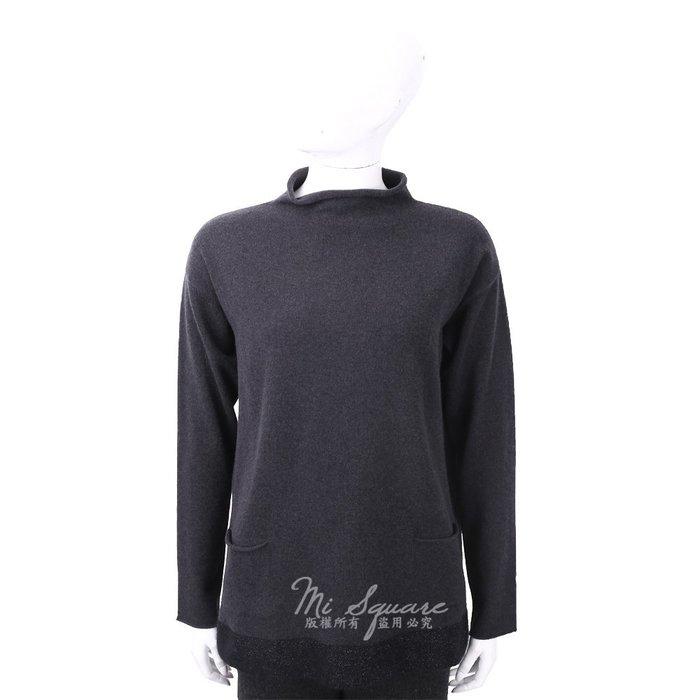 米蘭廣場 FABIANA FILIPPI 馬海毛捲邊立領灰色美麗諾羊毛衫 1810034-58