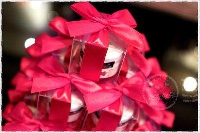 幸福朵朵【甜蜜蜜「透明盒裝」奧地利Darbo果醬小禮盒 x 30盒 (紅色緞帶)】-送客小禮物/婚禮小物