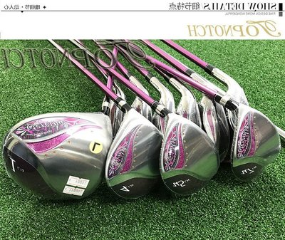 高爾夫球桿專柜正品KASCO高爾夫球桿Fereina女士初學練習球桿蝴蝶款女桿全套