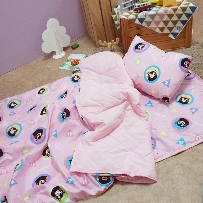 睡墊組 / 兒童標準【熊本熊樂園-兩色可選】幼兒專用睡墊三件組  高密度磨毛布  戀家小舖台灣製ABF088