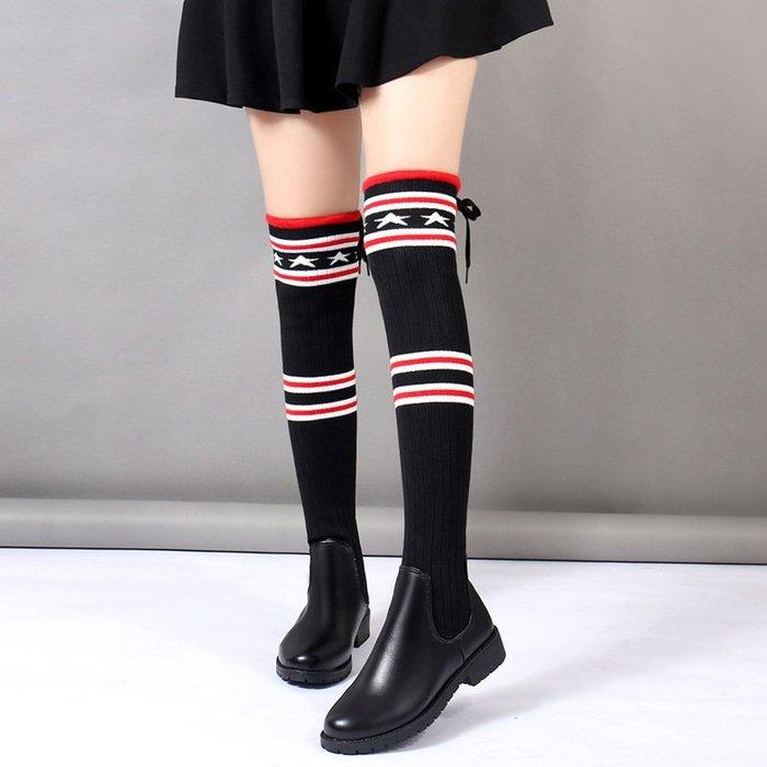 【超值】騎士靴新款小辣椒過膝靴女超長款靴子平底彈力長筒祙子靴超便宜休閒