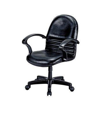 【浪漫滿屋家具】(Gp)605-5 辦公椅(黑皮.有手)