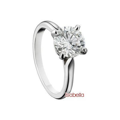 ISBL 2克拉 鑽石戒指 (莫桑石、摩星鑽、美神來 生日禮物 定情 鑽石品質)