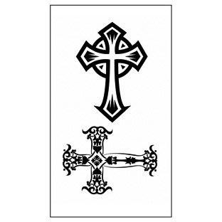 【萌古屋】M系列2二款十字架 - 男女防水紋身貼紙原宿刺青貼紙WM-143