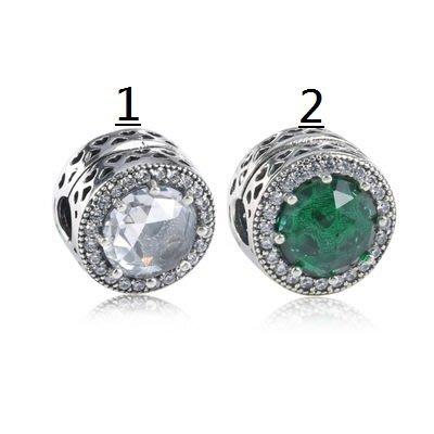 凱莉代購 Pandora 潘朵拉 S925純銀新款手鍊diy珠子配件鑲石切面水晶石貓眼定位扣  預購特價