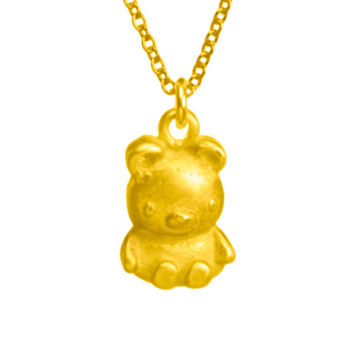 Dogeared bear 金色小熊項鍊 你最寶貝 附原廠盒